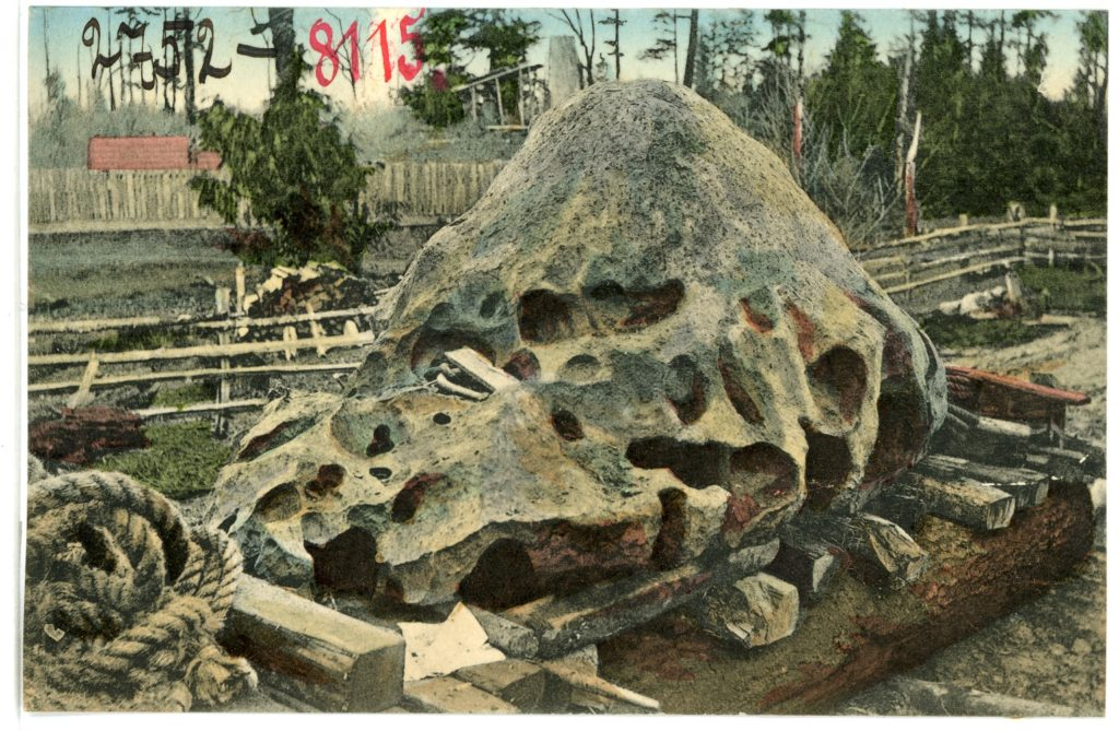 1906 Postcard showign the Willamette Meteorite published by Brueck & Sohn Arts